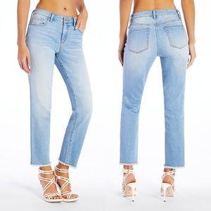 Jessica Simpson Arrow Straight Leg Raw Edge Jeans